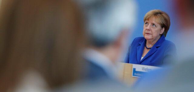 德國總理默克爾2016年7月 28日在柏林的記者會上。