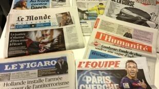 Diários franceses 15/01/2016