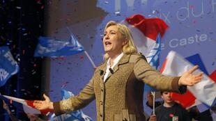 France's far-right presidential candidate and National Front party President Marine Le Pen