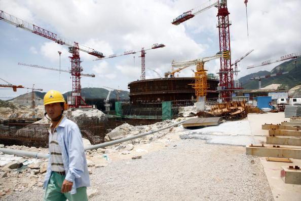 Công trường xây lò phản ứng EPR tại Thái Sơn, Quảng Đông, Trung Quốc, với sự hợp tác của Areva