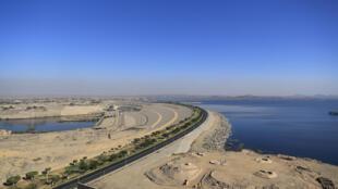 La represa de Asuán en Egipto el 3 de enero de 2021