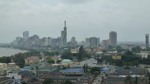 Vue de Lagos au Nigeria.