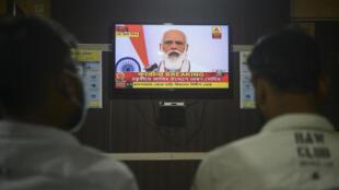 narendra modi adresse nation television