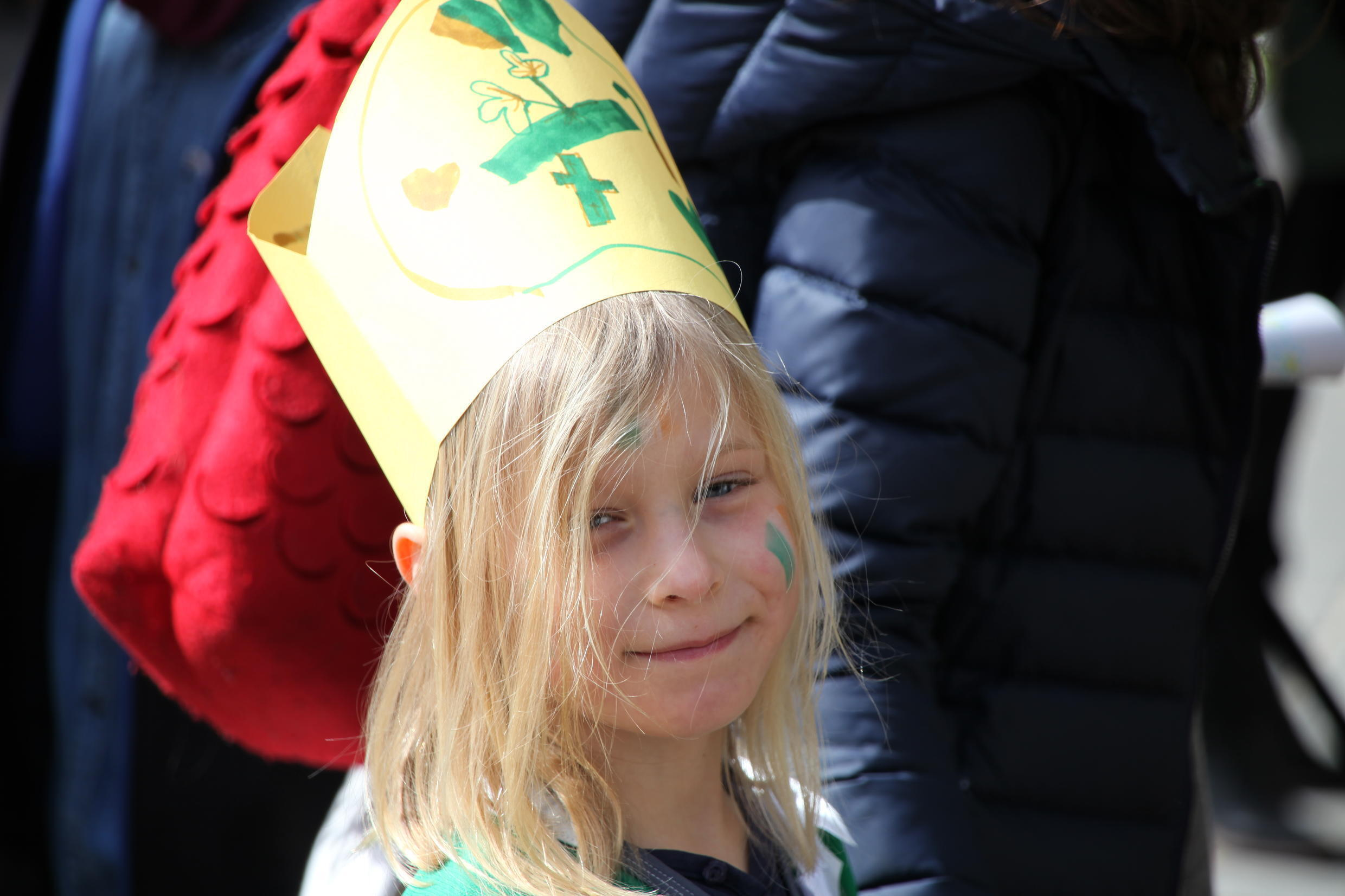 This girl is one of many children that took part in the festivities.