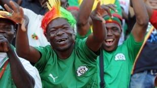 Supporters lors des éliminatoires de la Coupe du monde 2014.