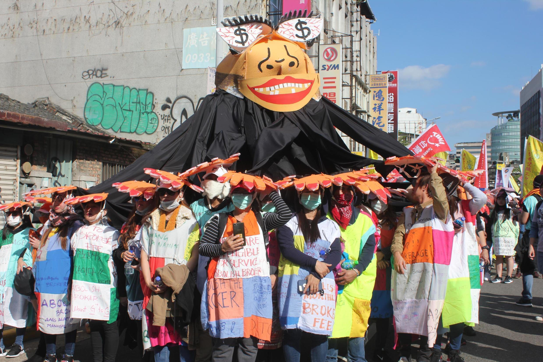 Lao động nhập cư, đa phần là gốc Đông Nam Á, biểu tình ngày 08/12/2019, phản đối điều kiện làm việc tại Đài Loan