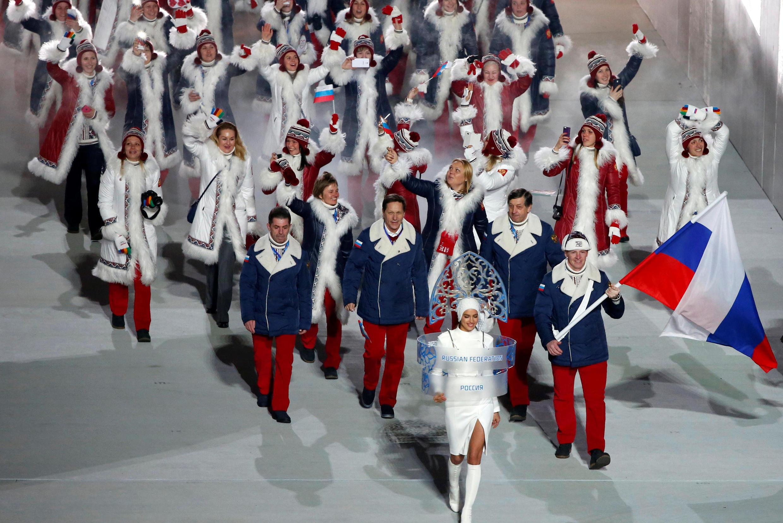 Đoàn vận động viên Nga tại Thế Vận Hội Mùa Đông Sotchi năm 2014.
