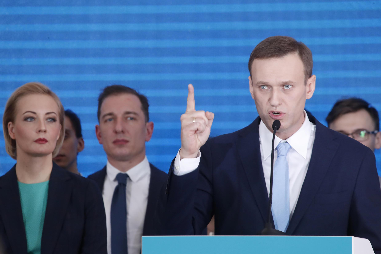 Nhà đối lập Nga Alexei Navalny phát biểu trong một cuộc mít-tinh ở Matxcơva, ngày 24/12/2017