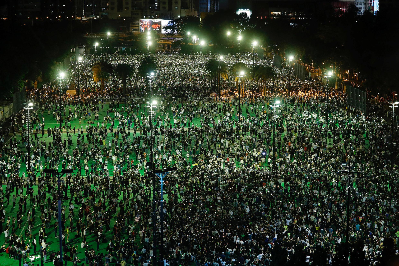 香港维多利亚公园,2020年6月4日。