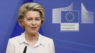 La présidente de la Commission européenne, Ursula von der Leyen, le 5 décembre 2020.