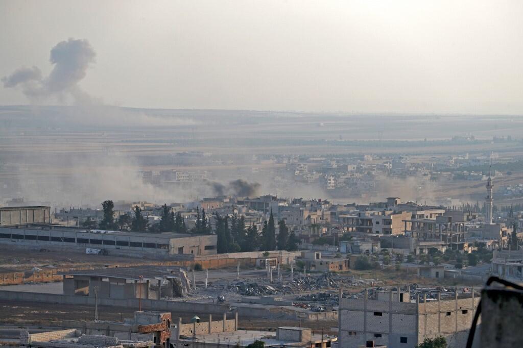 Thành phố Khan Cheikhoun bị quân chính phủ Syria không kích ngày 5/08/20189.