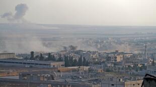 Thành phố Khan Cheikhoun sau cuộc oanh kích của quân đội Syria, ngày 5/08/2019.
