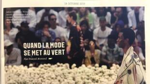"""""""Quando a moda adota o verde"""", dá em manchete de capa a revista francesa Week-End"""