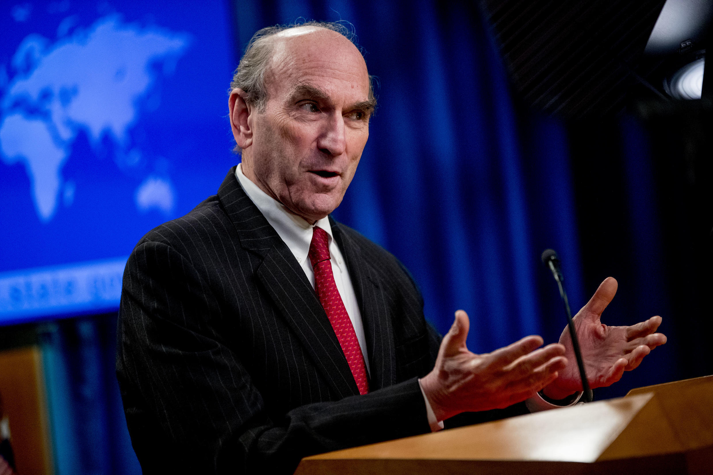 US special envoy to Venezuela Elliott Abrams is seen in Washington, DC in March 2020