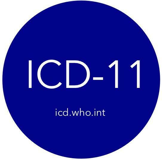 ICD-11 por sus siglas en inglés, la nueva clasificación internacional de enfermedades de la OMS.