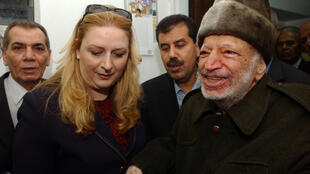Suha and Yasser Arafat on 29 October 2004