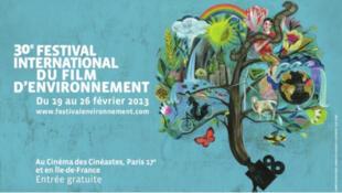 Affiche du 30e festival international du film d'environnement, 2013.