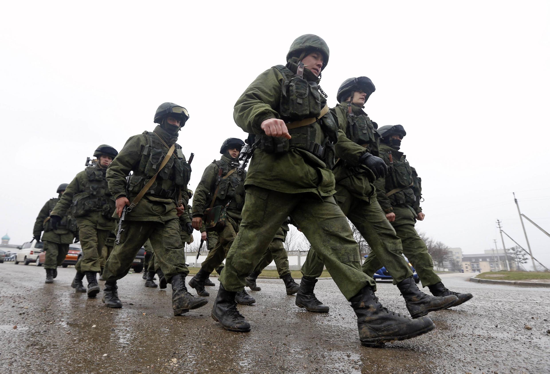 Quân Nga tại Simferopol, ngày 07/03/2014.