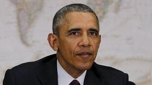Barack Obama, lors d'une réunion au département d'Etat à Wahington, le 25 février 2016.