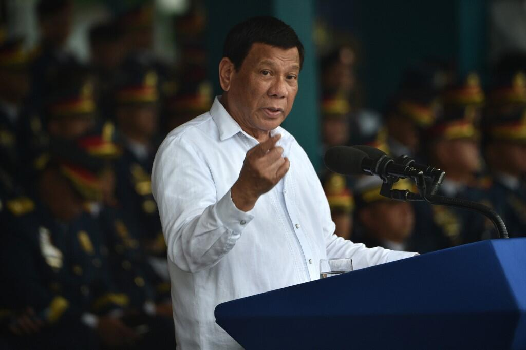 O controvertido presidente filipino, Rodrigo Duterte.