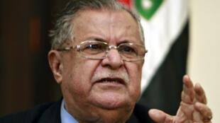 Le président irakien Jalal Talabani à Bagdad, le 2 mars 2009.