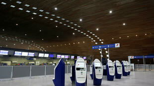 Стойки регистрации Air France в парижском аэропорте Руасси.