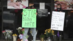 États-Unis - Atlanta - Crime de haine - AP21076831360464