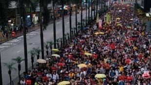 Dân Hồng Kông biểu tình phản đối dự luật cho phép dẫn độ sang Trung Quốc, ngày 28/04/2019