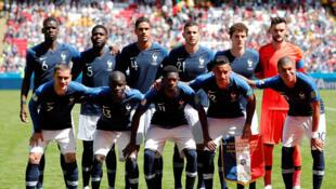 2018世界杯足球赛法国冠军队  2018年6月16日喀山足球场