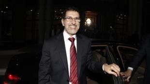 Le ministre marocain des Affaires étrangères Saad-Eddine Othmani en visite à Alger, le 24 janvier 2012