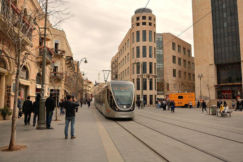 Jérusalem, rue commerçante de Jaffa.