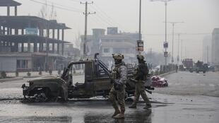 The aftermath of an attack in Kabul in December. The US military has blamed the Taliban for a spate of targeted killings
