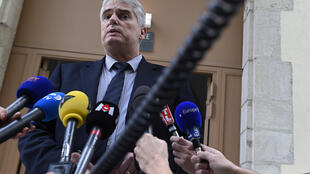 Valence's prosecutor Alex Perrin, speaks to the press, on January 2, 2016, at the Valence's courthouse, on driver shot and wounded yesterday as he drove a car at four soldiers guarding a mosque.
