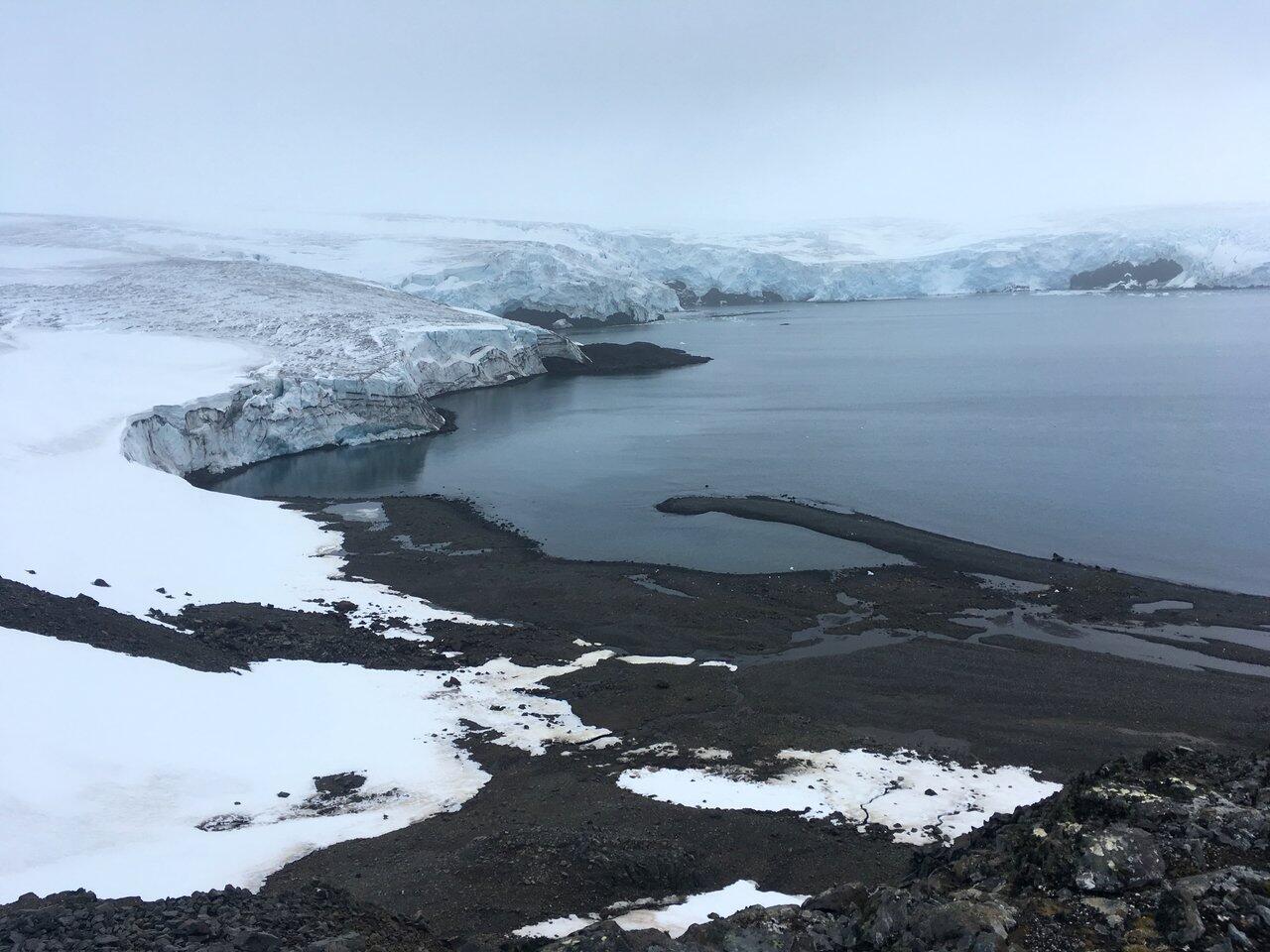 Le glacier Collins, en Antarctique (pôle Sud), en 2018.