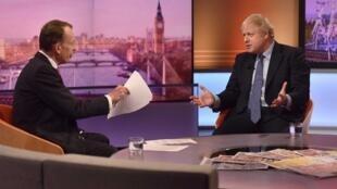 Attaque de Londres: face à face tendu entre le Premier ministre Boris Johnson et le journaliste Andrew Marr de la BBC.