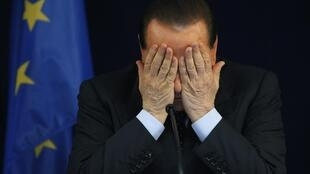 O premiê italiano, Silvio Berlusconi.