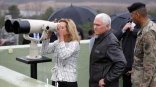 O vice-presidente dos Estados Unidos, Mike Pence, em visita à Coreia do Sul.
