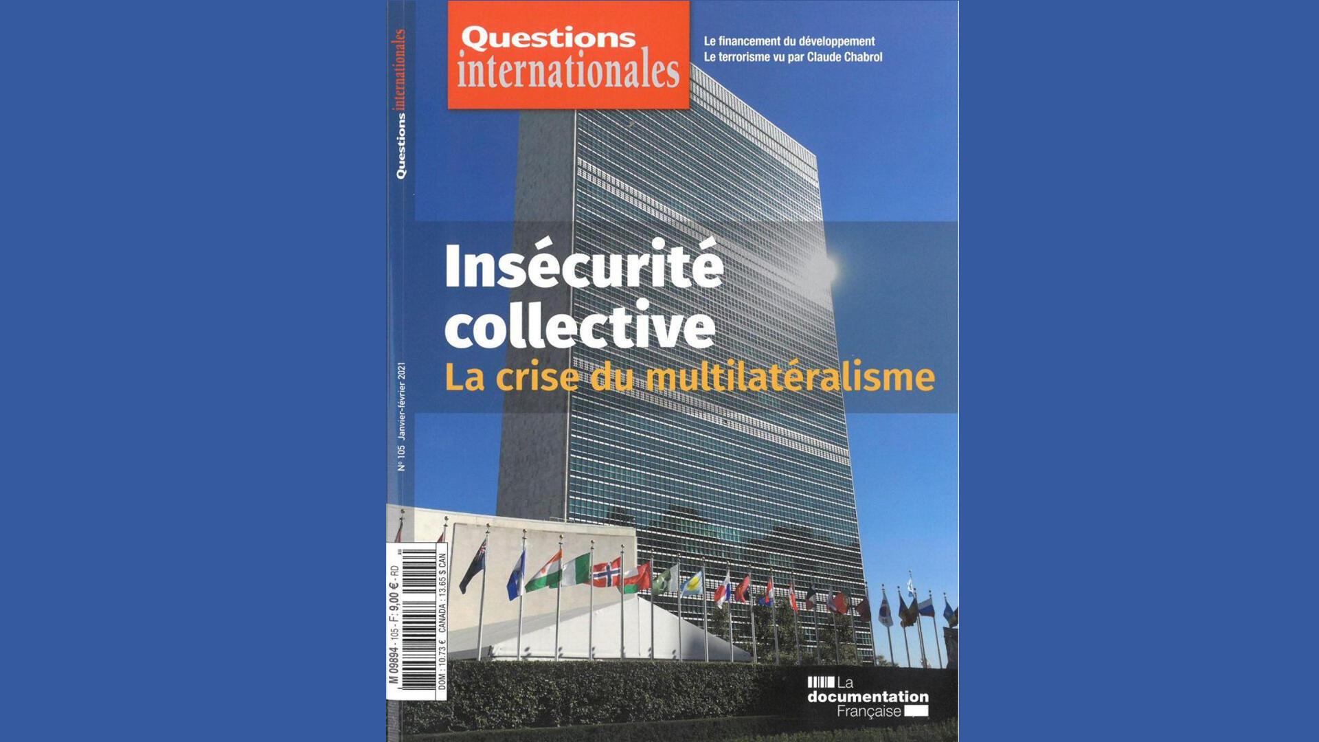 Couverture - Questions internationales - Multilatéralisme - Géopolitique le débat