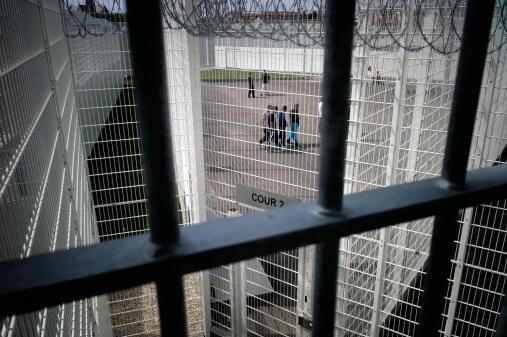 Bourg-en-Bresse prison in central France