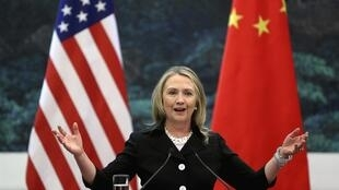 A secretária de Estado americana, Hillary Clinton, durante visita a Pequim nesta quarta-feira.