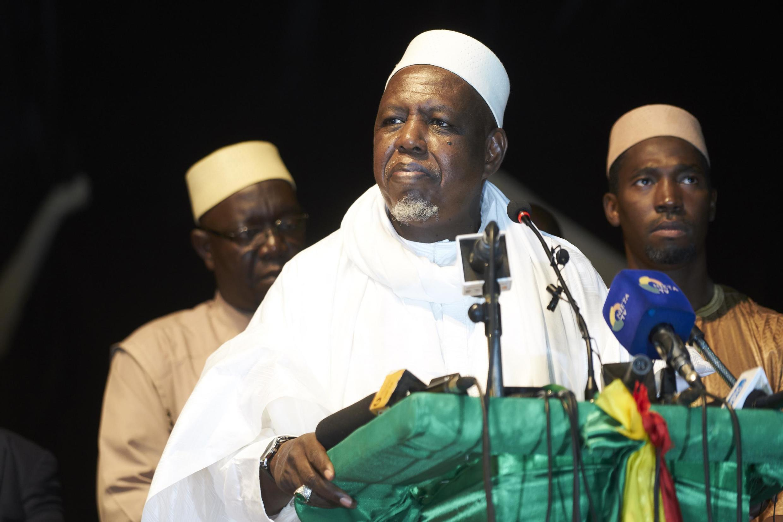 L'imam malien Mahmoud Dicko, lors du lancement de son mouvement politique la Coordination des mouvements, associations et sympathisants (CMAS), le 7 septembre 2019 à Bamako.