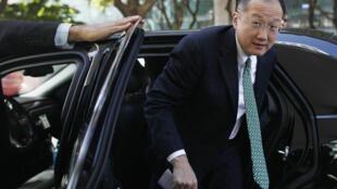 L'Américain Jim Yong Kim, président de la Banque mondiale, le 16 avril 2012.