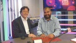 Jair Cabrera y Jordi batallé en el estudio 151 de RFI