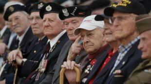 Ветераны Второй мировой на церемонии в Региональном совете г. Кана 04/06/2014