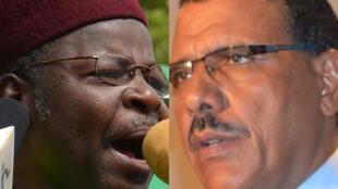 Mahamane Ousmane (à gauche) et Mohamed Bazoum (à droite), les deux candidats qualifiés pour le second tour de la présidentielle au Niger.