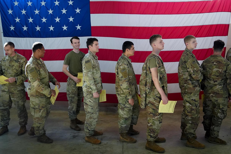 Fort Bragg, Caroline du Nord: tropas estadounidenses se preparan para partir a Medio Oriente, 5 de enero 2020.