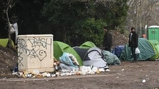 Migrant camp in Calais