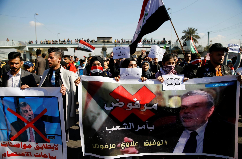 معترضان عراقی از انتخاب محمد علاوی راضی نیستند. یکشنبه ١٣ بهمن/ ٢ فوریه ٢٠٢٠
