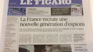Capa do jornal Le Figaro desta segunda-feira, 13 de fevereiro de 2017.