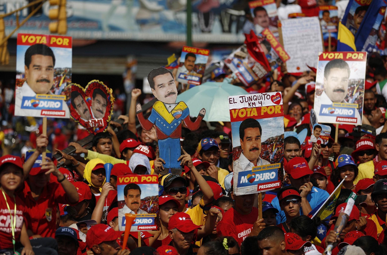 Dernier meeting de campagne de Nicolas Maduro, le 11 avril 2013.